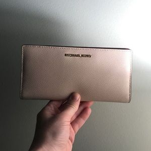 Michael Kors Saffiano Leather Slim Wallet